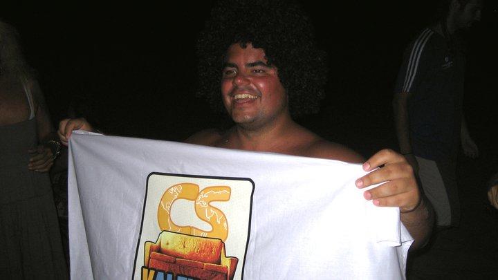 Éste soy yo en mi fiesta de despedida de CouchSurfing Valencia.