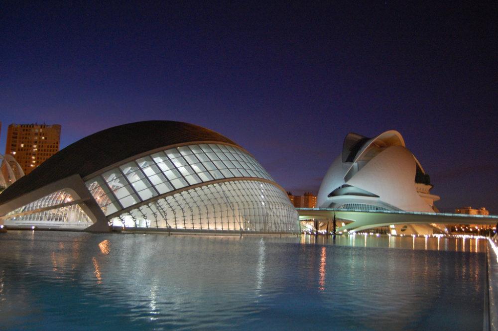 Ciudad de las Artes y de las Ciencias de Valencia, España.