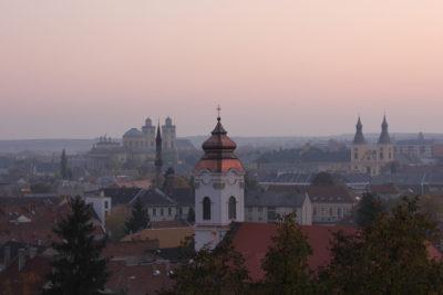 Eger, ciudad de Hungría.