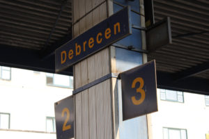 Estación de tren de Debrecen, Hungría.
