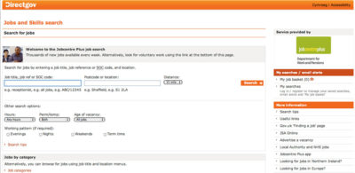 JobCentrePlus, web de búsqueda de empleo en Reino Unido.