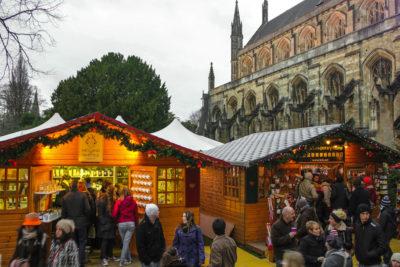 Mercado de Navidad, Winchester, Reino Unido.