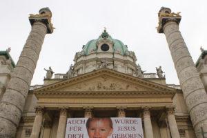 Iglesia de San Carlos Borromeo, Viena, Austria.