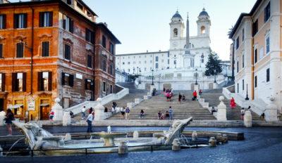 Plaza de España, Roma, Italia.