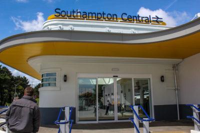 Estación de trenes de Southampton Central, Reino Unido.