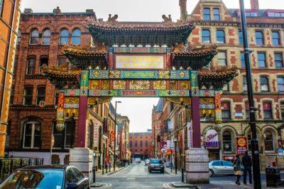 Chinatown de Mánchester, Reino Unido.