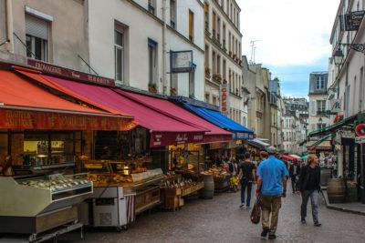 Rue Mouffetard de París, Francia