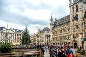 Grand Place de Bruselas, capital de Bélgica.