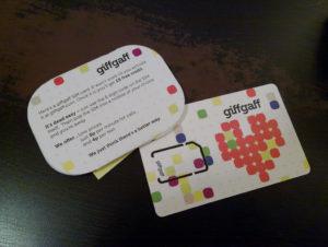 Tarjeta SIM de giffgaff
