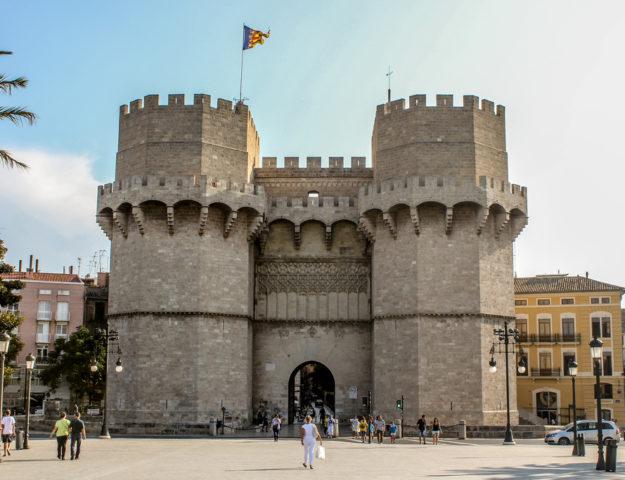 Torres de Serranos, Valencia, España.