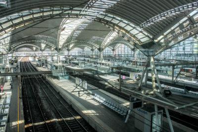 Estación de trenes de Lovaina, Bélgica.