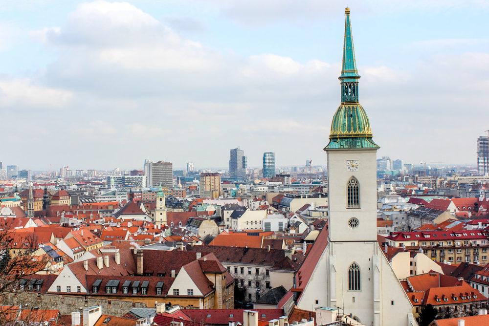 Bratislava, capital de Eslovaquia.