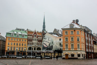 Riga, capital de Letonia.