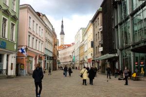 Calle Viru, centro histórico de Tallin