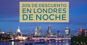 20% de descuento en Londres de noche