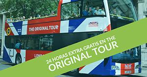 24 horas extra gratis en The Original Tour de Londres