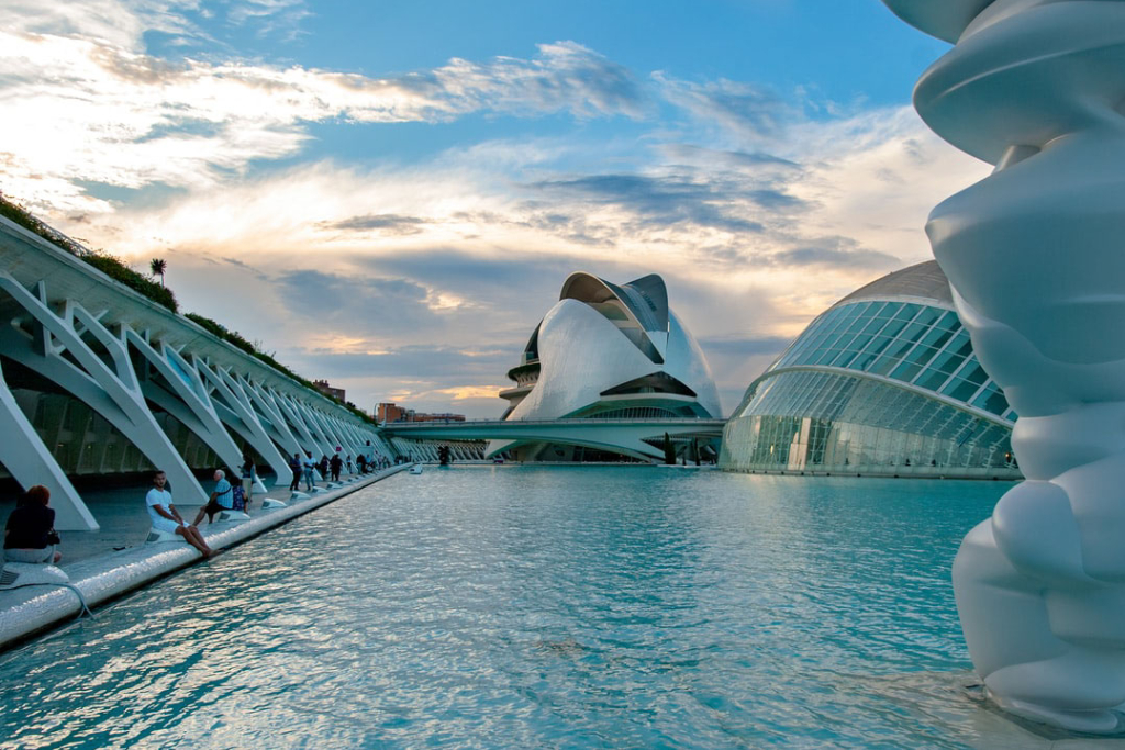 Ciudad de las Artes y las Ciencias en Valencia, España.