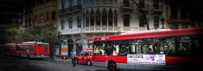 Autobuses de la EMT de Valencia.