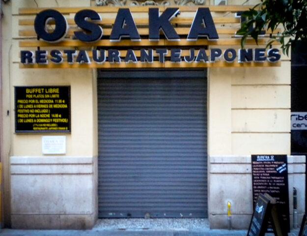 Restaurante japonés Osaka III, Valencia, España.