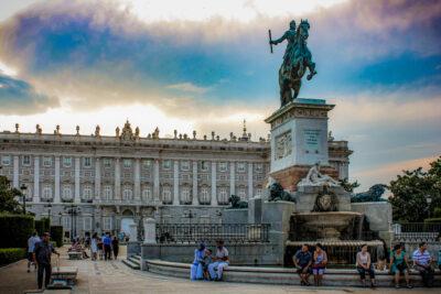 Palacio de Oriente de Madrid, España.
